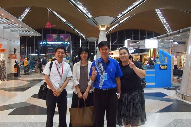 クアラルンプール国際空港にて