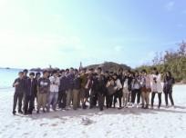 渡嘉敷島の集合写真(3日目)