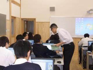 新しくできた学習室でのデジタル授業の様子