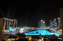 マリーナベイサンズ(Marina Bay Sands)の夜景
