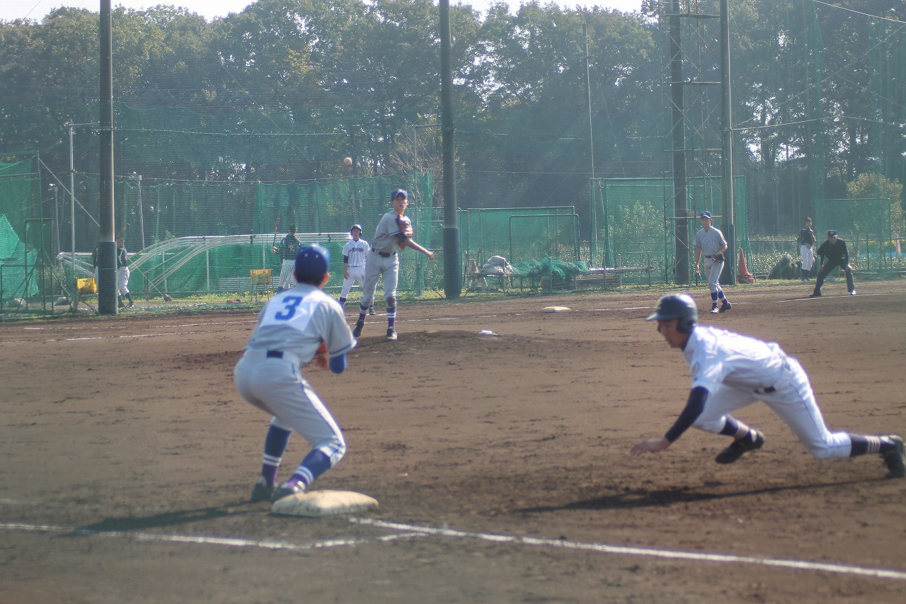 20171104野球部試合6